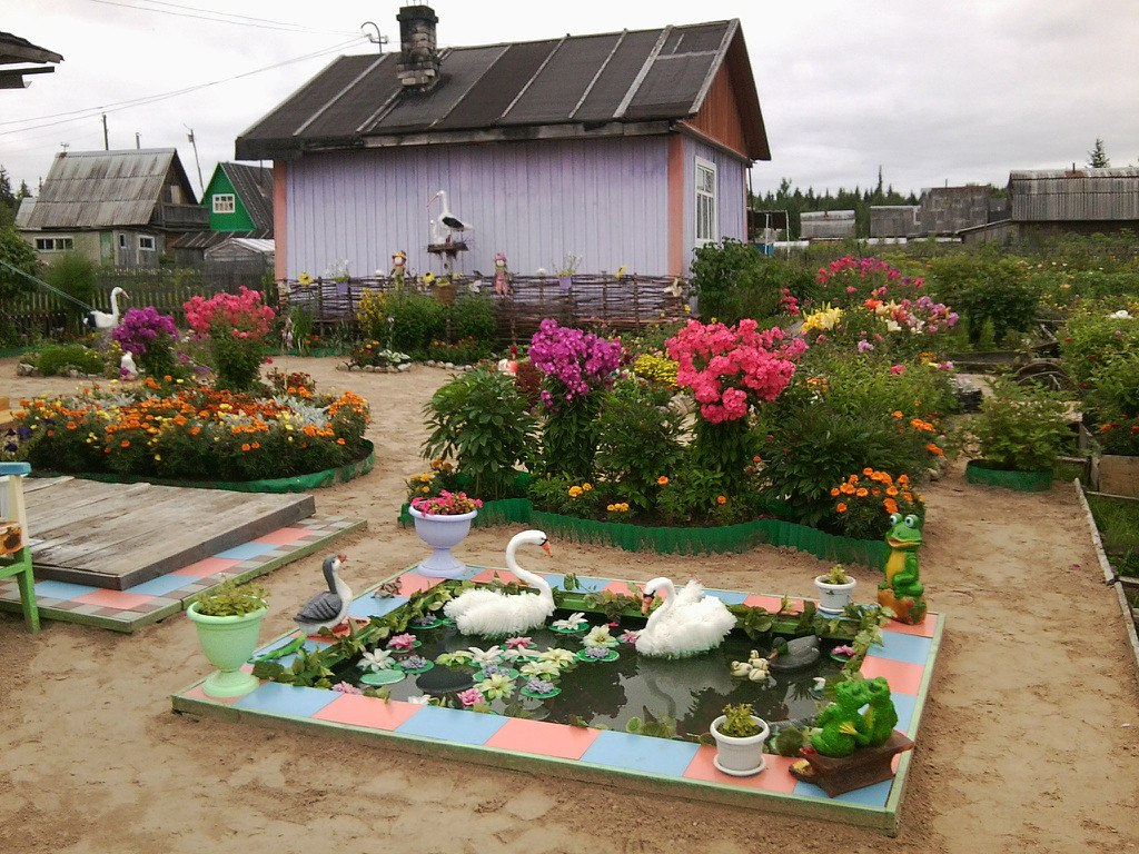 Идеи для сада и двора фото своими руками